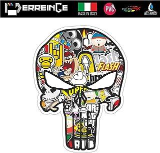 SkinoEu/® 4 x 60mm Adesivi Resinati 3D Gel Stickers Auto Coprimozzo Universale Logo Silicone Autoadesivo Stemma Adesivo Copricerchi Tappi Ruote Colore This is My Car Craneo A 5360