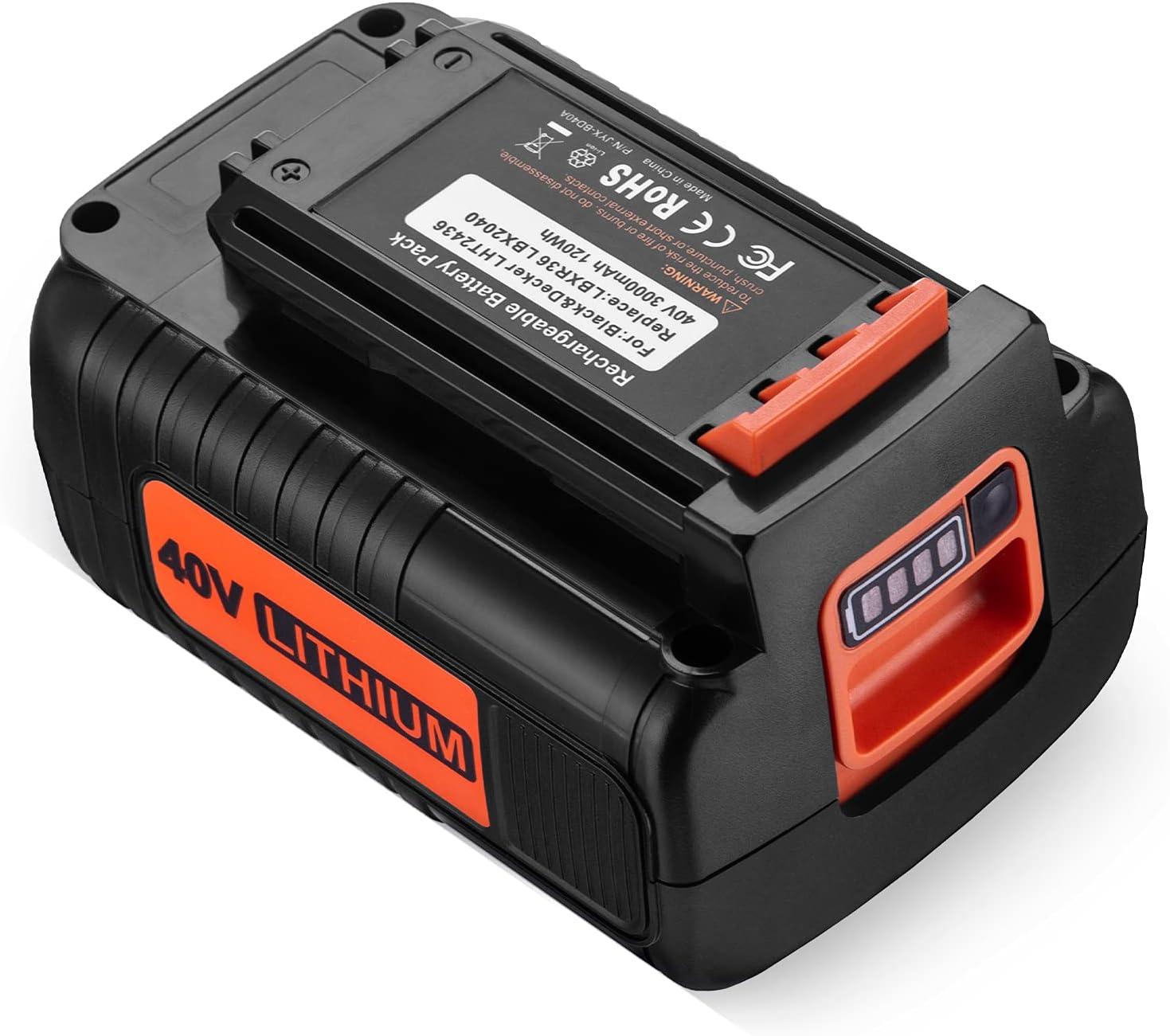 3000mAh LBX2040 Austin Mall Battery for Black and Decker Direct store LBXR203 40V