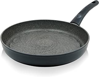"""TECHEF - Infinity Collection/Frying Pan, Coated 4 times with the new Teflon Stone Coating with Ceramic Particles (PFOA Free) (12"""" grill pan)"""