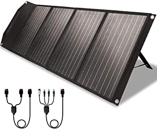 ROCKPALS RP082 100w Foldable Solar Panel Charger with Kickstand, Parallel Cable, QC 3.0 and USB-C, Upgraded Portable Solar...