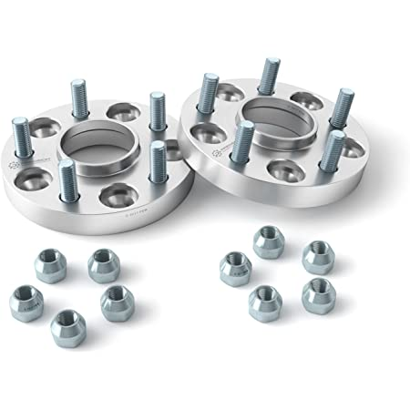 2pcs Hubcentric Bolt On Wheel Spacer Adaptor 5x114.3 60.1 25mm M12x1.5 A Pair
