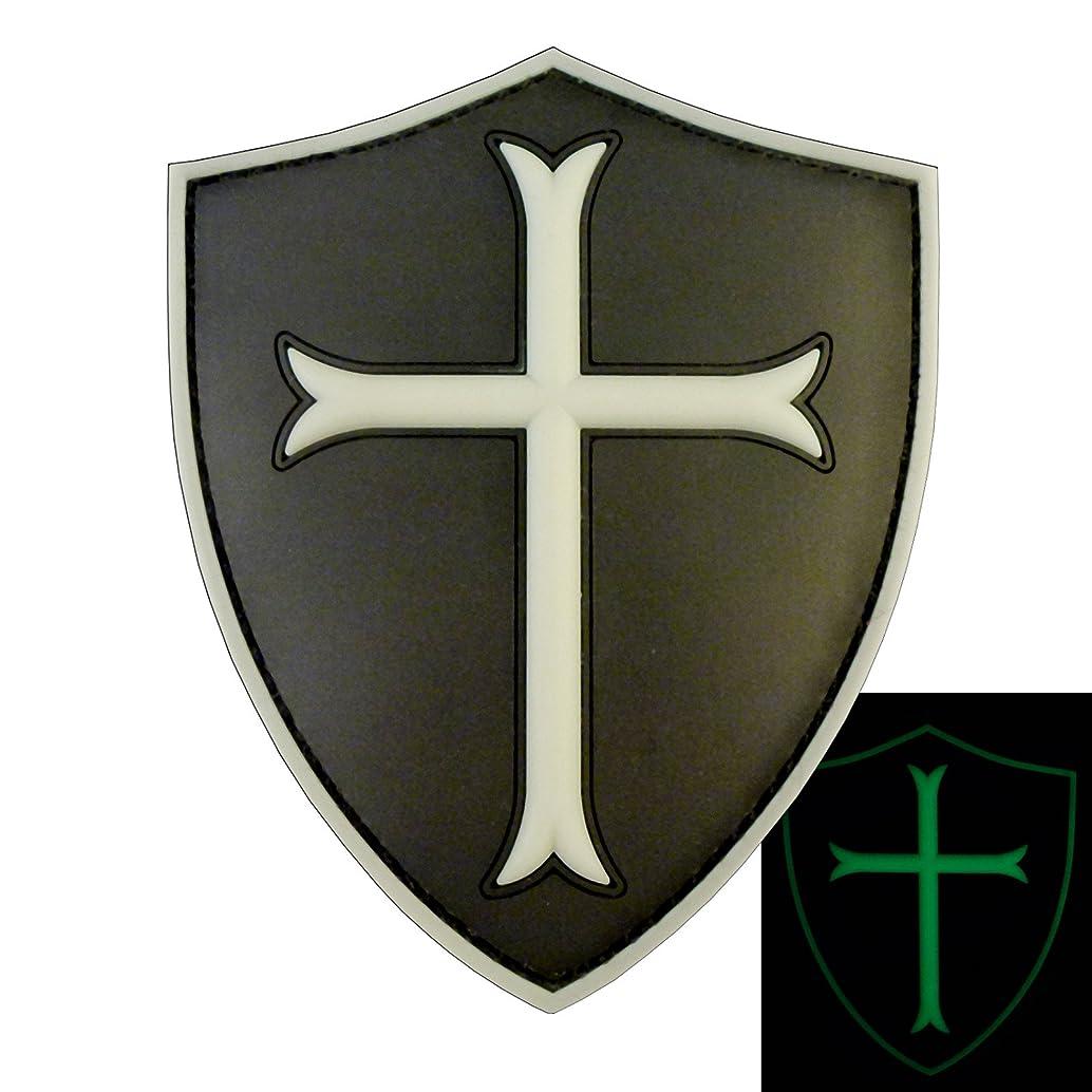 LEGEEON ACU Black US Navy Seals DEVGRU Crusaders Templar Knight Cross Morale PVC Fastener Patch