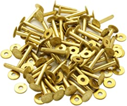 ビーズ屋公ちゃん。オリジナル 真鍮リベット(ブラスリベット)(Brass Rivet)#9×1インチ 50セット