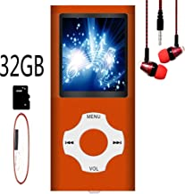 $28 » MP3 Player / MP4 Player, Hotechs MP3 Music Player with 32GB Memory SD Card Slim Classic Digital LCD 1.82'' Screen Mini USB Port with FM Radio, Voice Record