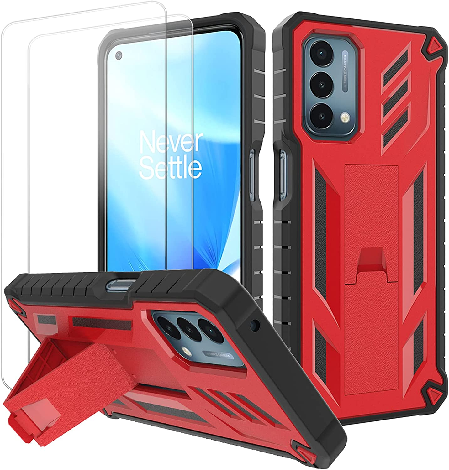 Stand Case for OnePlus Nord N200 with 2 Pack Protector Screen 5G Year-end annual account Boston Mall
