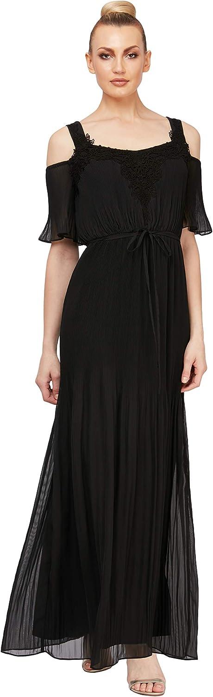 S.L. Fashions Women's Cold-Shoulder Goddess Dress