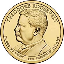 2013 D Theodore Roosevelt Presidential Dollar Choice Uncirculated