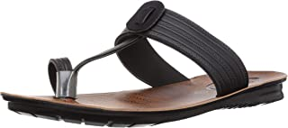 PARAGON Men's Black Formal Thong Sandals - 8 UK/India (42 EU)(PU6775G)
