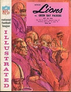 1964 Detroit Lions v Green Bay Packers Program 9/28 Tiger Stadium Ex/MT Nice