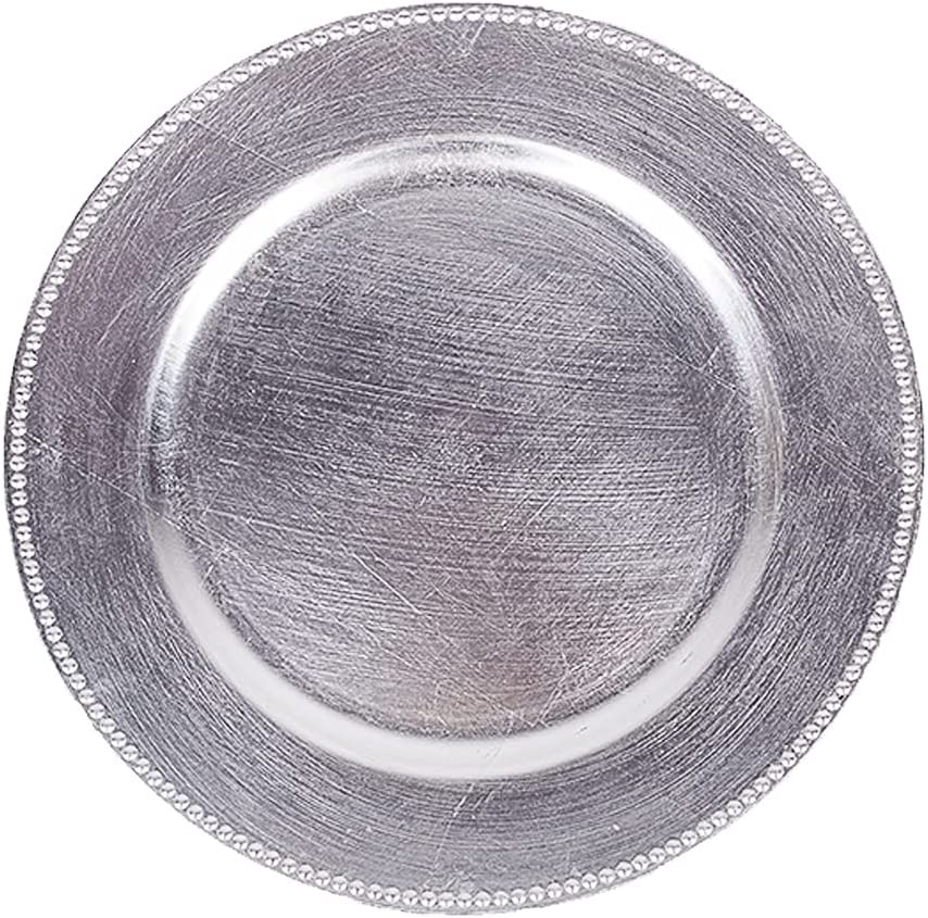 MAONAME Silver Charger Plates with for Plastic Chargers Import Many popular brands Beaded