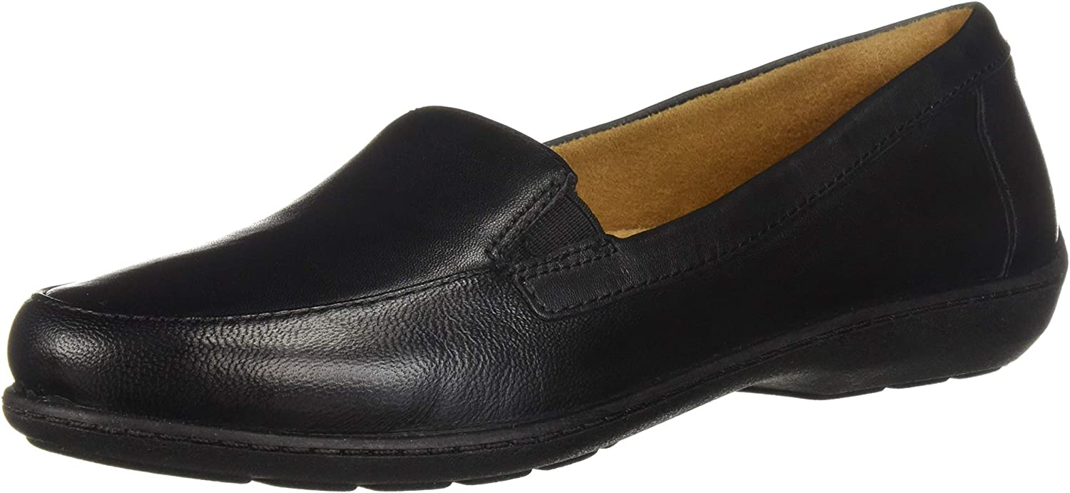 SOUL Naturalizer Women's Kacy Loafer Black Leather 5 M US