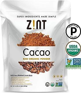 Polvo de cacao orgánico Zint Paleo-Certified, Orgánico, No