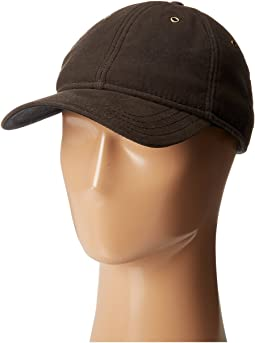 Waxed Cotton Ball Cap with Sherpa Lining