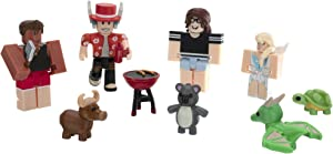 Roblox Celebrity Collection - Adopt Me: Backyard BBQ Four Figure Pack [Includes Exclusive Virtual Item]