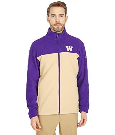 Columbia College Washington Huskies Flankertm III Fleece Jacket (Purple/Sierra Tan) Men