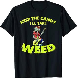 Electric Guitar Halloween Rock Spooky Zombie Creepy Gift T-Shirt