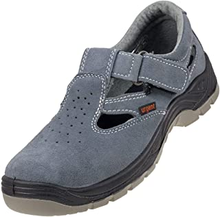 Lightweight Safety Sandals Grey Anti Static Slip Resistant Steel Toe Cap 302S1
