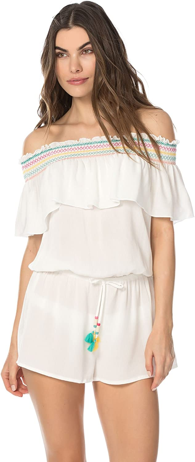 Isabella pink Women's Crystal Cove Romper Swim Cover up