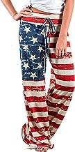 Elsofer Women's Pajama Lounge Pants Floral Print Comfy Casual Stretch Palazzo Drawstring Pj Bottoms Pants Wide Leg