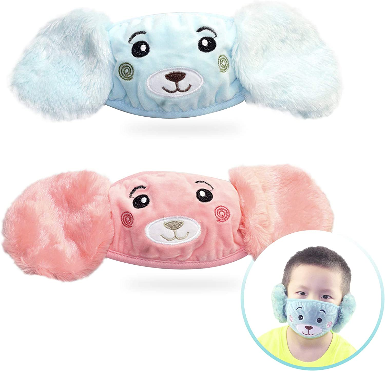 YUESUO Mask Earmuffs Genuine Free shipping anywhere in the nation 2-in-1 Winter Reusable Breathab Warm Masks
