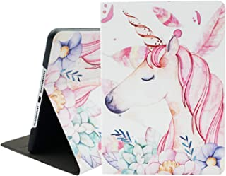 Unicorn iPad 9.7 Case, Mictchz New iPad 2018 2017, iPad Air/Air 2 Tablet Lightweight Slim Shell Cover with Back Protector Supports Auto Wake/Sleep for Apple iPad 5th 6th Generation Kids Girls Gift