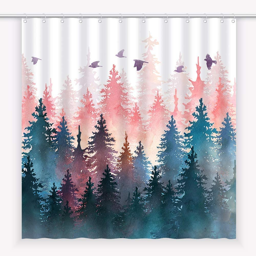 Egoing Shower shipfree Curtain Fabric Bathroom Resistant Decor Water Bath New Shipping Free Shipping