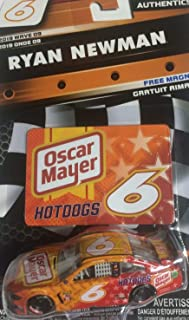 ACTION 2019 NASCAR Authentics Wave 9 Ryan Newman Oscar 1/64 Scale Diecast with Bonus Magnet Collectors Card