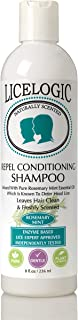 LiceLogic Head Lice Prevention Shampoo | Non Toxic Treatment for Kids Safe for Daily Use | Repels Super Lice, Eggs and Nits Naturally with No Harsh Chemicals | 8 oz Mint