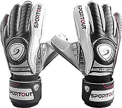 Sportout Jeugd Volwassen Goalie Keeper Handschoenen, Voetbal handschoenen, Sterke Grip voor de zwaarste besparingen, Met F...