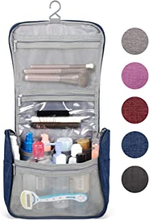 Hanging Travel Toiletry Bag Cosmetic Make up Organizer for Women and Girls Waterproof Z-Navy Blue