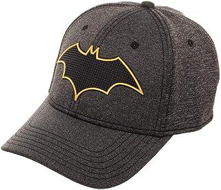 Batman New 52 Rubber Weld Cationic Flex Cap Baseball Hat Grey 913eee92bd9f
