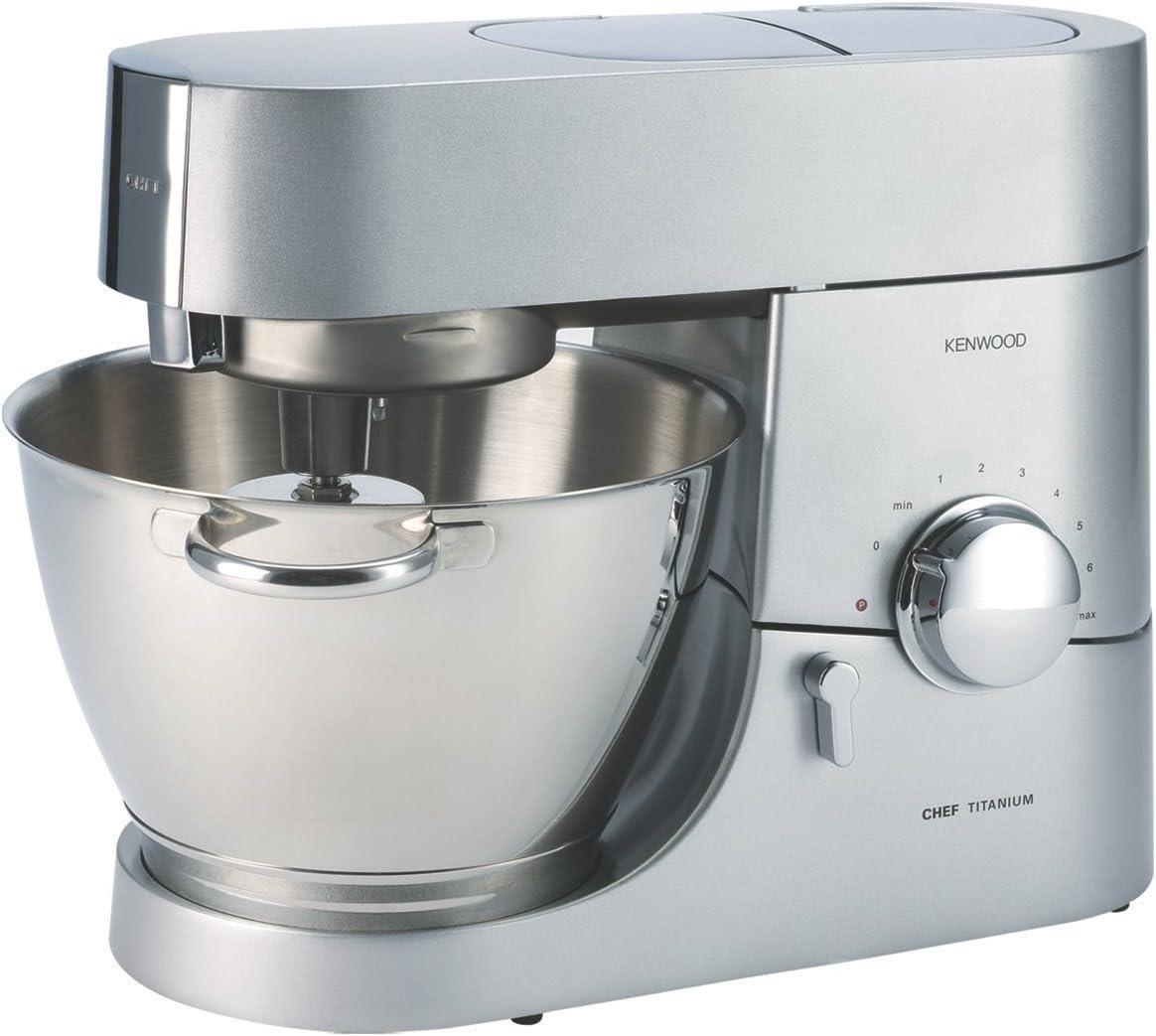 Kenwood KMC011 5 Quart Chef Titanium Kitchen Machine, Stainless Steel