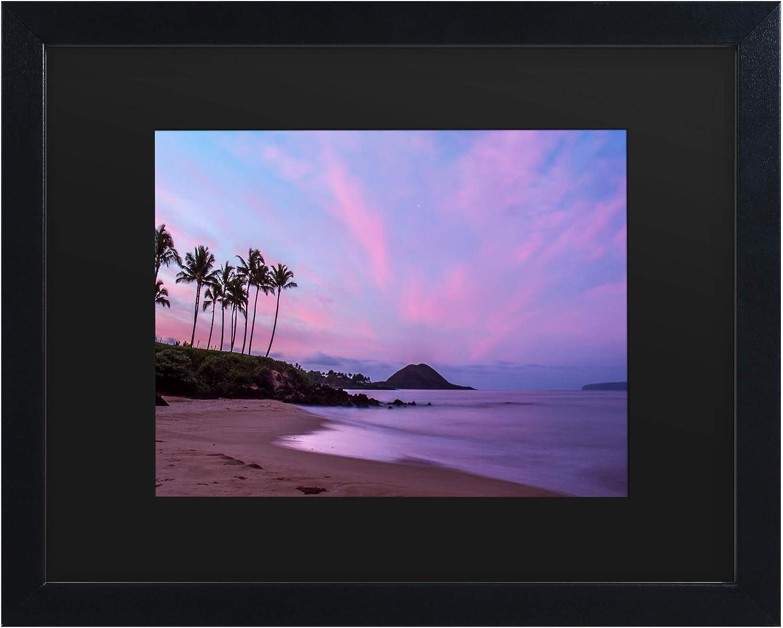 Trademark Fine Art Secret Beach by Pierre Leclerc, Matte, Black Frame 11x14