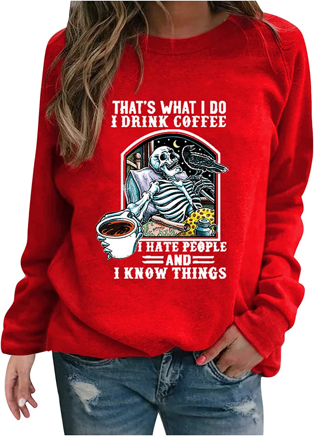 CCHENN Safety and trust Our shop OFFers the best service Women's Happy Halloween Bat Pullover Graphic Tops Crewnec