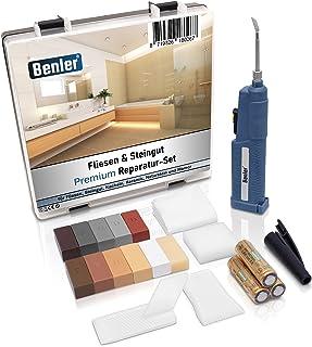 BENLER® NIEUW! - Tegelreparatieset met 2-in-1 wassmelter voor tegels, keramiek en aardewerk, bruintinten, ook geschikt voo...