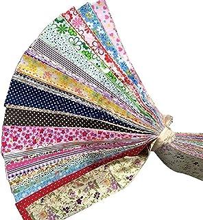 Henmoss 30枚 5*50cm 生地 北欧 綿 布 カットクロス 布 花柄 プリント パッチワーク DIY手作布 縫う手作り 可愛い シンプル プリント布 手芸用 家庭用