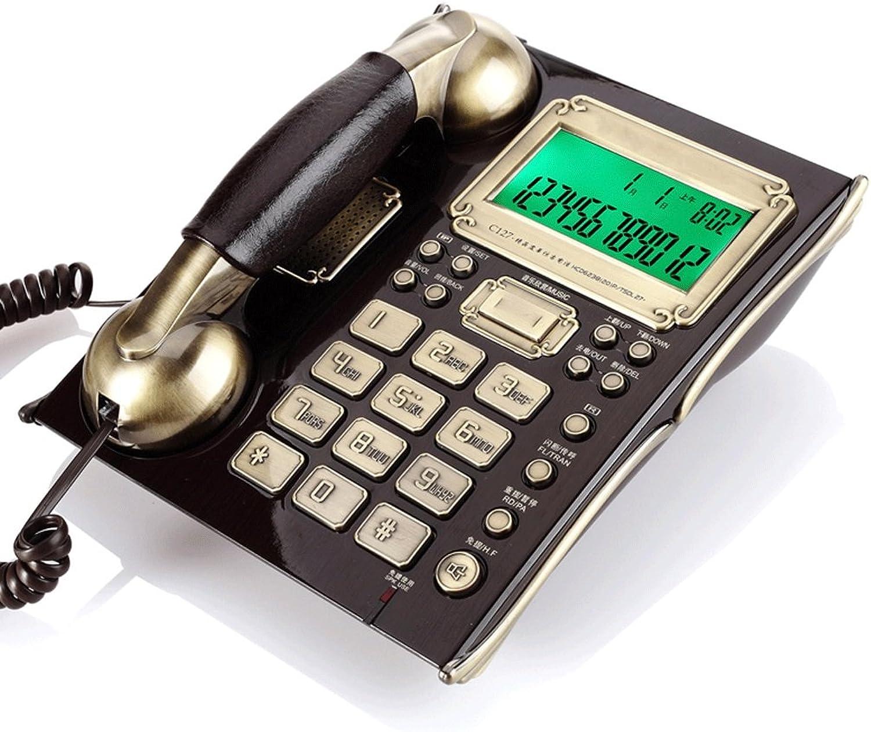 DONGLU Téléphone Fixe Rétro Téléphone Fixe Téléphone à la Maison Téléphone Antique Rétro Téléphone Décoratif (Couleur   Noir)