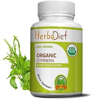 Organic Gymnema Leaf Powder Capsules |Gymnema Sylvestre | Blood Sugar Support, Fat Burner, Metabolism Booster | 100% Pure,...
