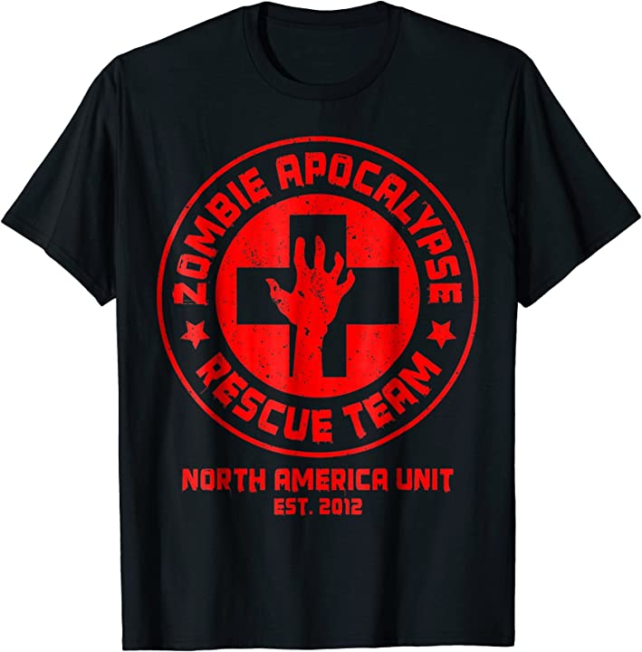 Zombie Apocalypse Rescue Team Halloween Scary Shirt