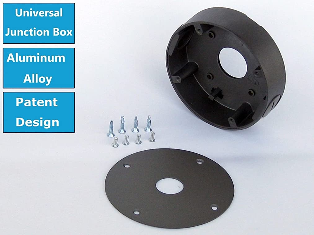 Universal Security Camera Base Mount Junction Box for Most Bullet & Dome Camera