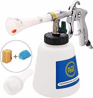 CPROSP High Pressure Car Cleaning Gun Interior Washing Air Tornado Gun Automotive Air Pulse Cleaning Equipment Nozzle Sprayer with 1 Liter Foam Bottle