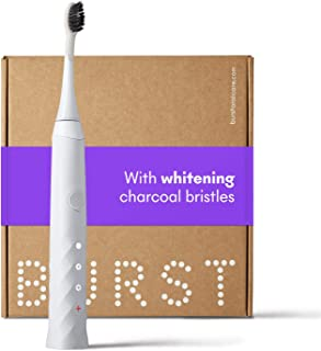 BURST Sonic Electric Toothbrush with Charcoal Toothbrush Head, White