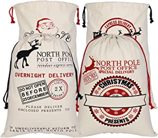 Details about  /49*32cm White Christmas Stocking Sacks Santa Blank Bags hot Gift Sock Xmas A3S6