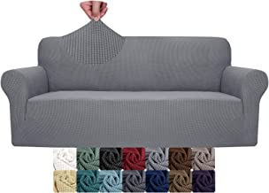 YUUHUM Sofa Cover Stretch Jacquard Couch Covers for 3 Cushion Couch Universal Fitted Sofa Slipcovers Living Room Non Slip ...