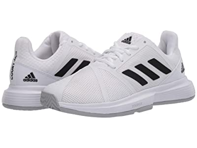 adidas CourtJam Bounce (Footwear White/Core Black/Matte Silver) Women