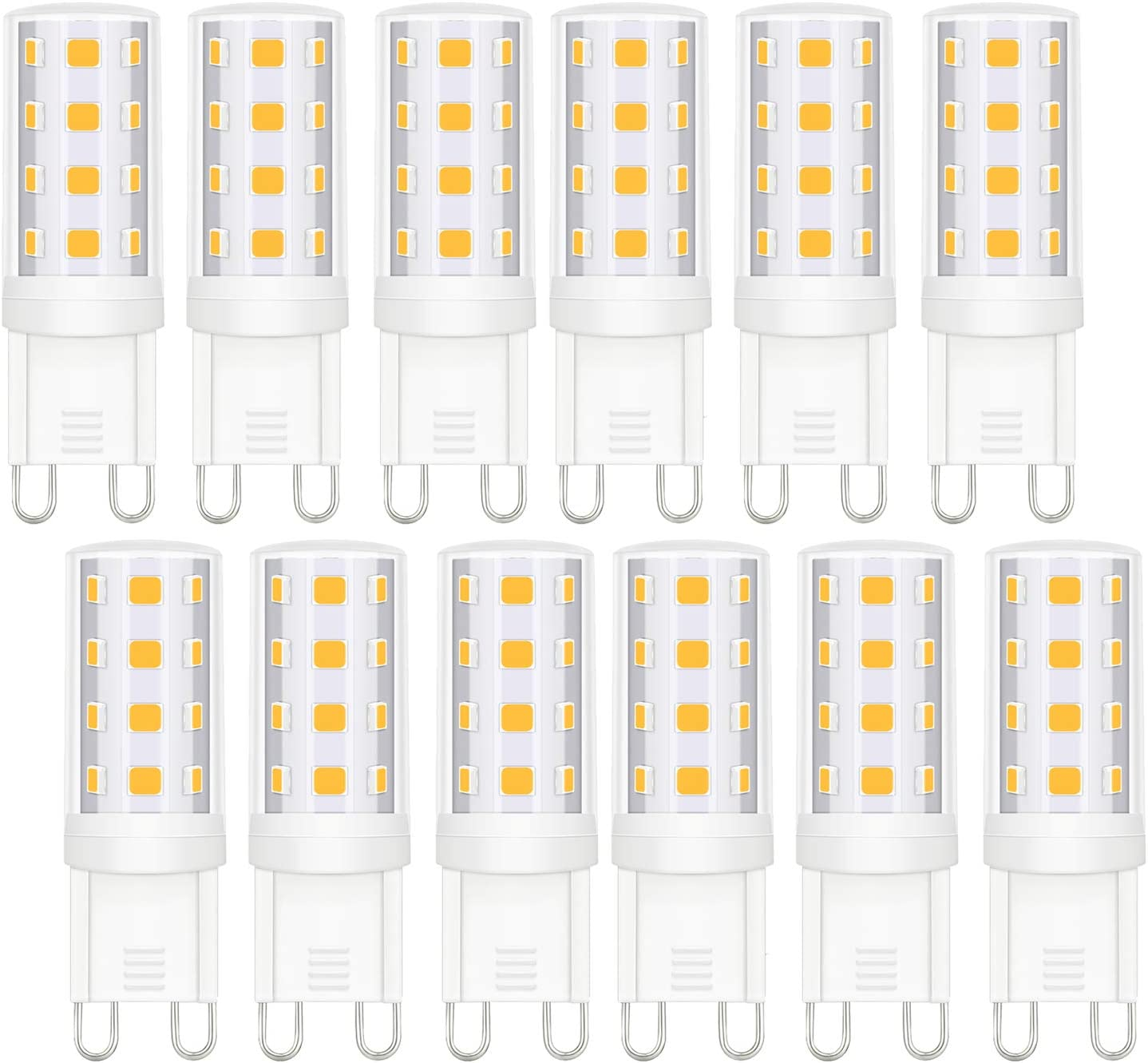 12 Pack G9-Led Bulbs Dimmable テレビで話題 - 3W Natural 4000 White 正規店 Chandelier