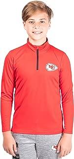 Ultra Game NFL Boy's Quarter-Zip Active Pullover Shirt