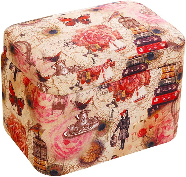 Simple Fabric Storage Stool, Creative Clothing Toy Storage Box - Living Room Bedroom Sofa Stool - Multifunctional Stool