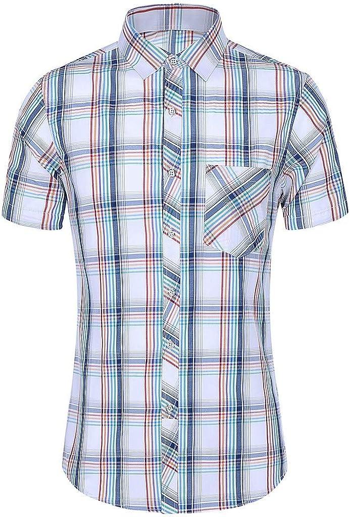 Men's Daily bargain sale Casual Max 87% OFF Hawaii Shirts Short Turn-Down Collar Printed Sleeve