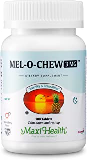 Mel-O-Chew Melatonin for Kids – 3mg Chewable Sleep Aid Tablets - Natural Supplement for Children and Adults - Helps Fall A...